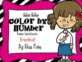 Helen Keller Color by Number
