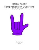 Helen Keller Comprehension Questions