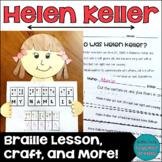 Helen Keller Craft and Braille Activity