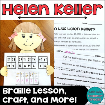 Helen Keller Craft and Braille Activity