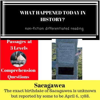 Sacagawea Differentiated Reading Passage April 6