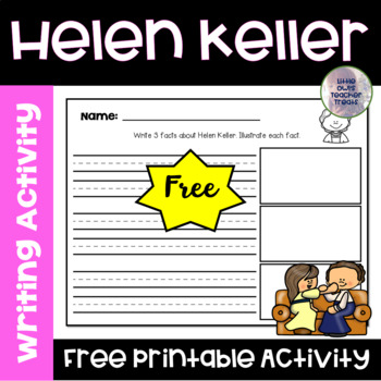 Helen Keller Fact Writing Freebie