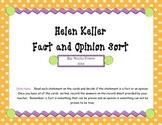 Helen Keller Fact and Opinion Sort