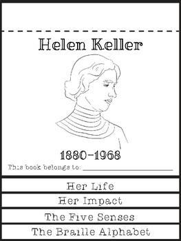 Helen Keller Flip Book