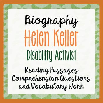 Helen Keller Biography Informational Texts Activities Grad