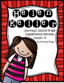 Helen Keller Journey's Activities - Second Grade Lesson 14