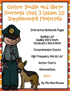 Officer Buckle and Gloria Journeys Unit 3 Lesson 15