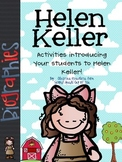 Helen Keller: Literacy Activities & Graphic Organizers Biography Study