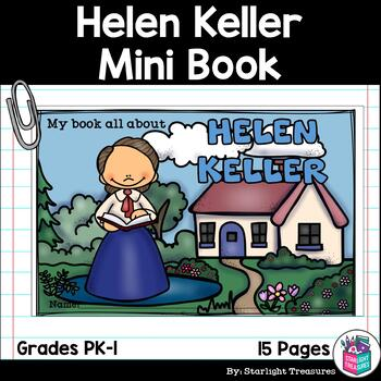 Helen Keller Mini Book for Early Readers: Women's History Month