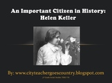 Helen Keller Power Point (powerpoint) with video clip of her talking