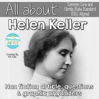 FSA & CCSS Aligned Helen Keller Reading Language/Editing Practice