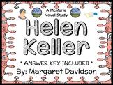 Helen Keller (Margaret Davidson) Novel Study / Comprehension  (30 pages)