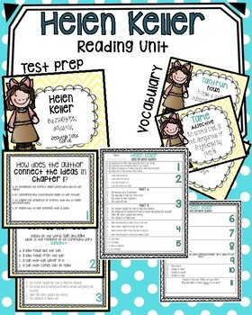 Helen Keller Reading, Writing, & Language activities
