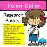 Helen Keller-Historical Figure Research Booklet