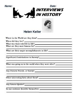 Helen Keller Research and interview Assignment