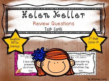 Helen Keller Review Task Cards for Houghton Mifflin Journeys