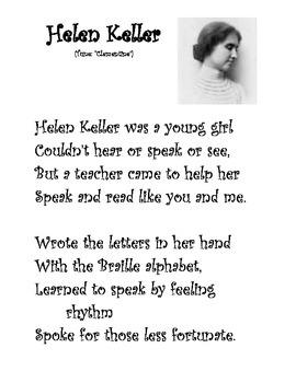 Helen Keller Song
