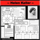 HELEN KELLER Research Project Timeline Poster Poem Biography Graphic Organizer
