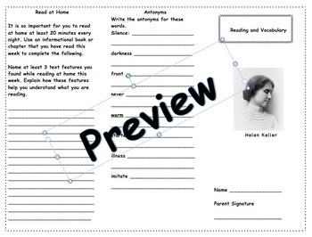 Helen Keller Trifold
