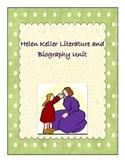 Helen Keller Unit,Character Analysis, Biography, 3rd grade