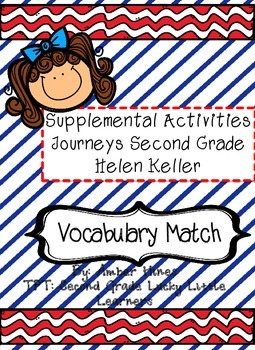 Helen Keller Vocabulary Match