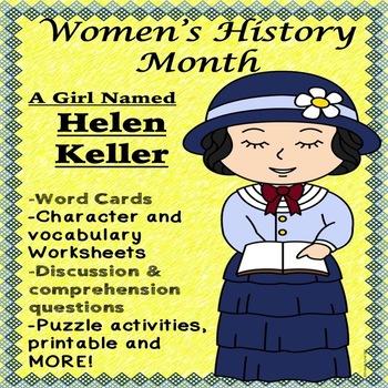 Helen Keller Biography Activities Guided Reading Worksheets Social Studies