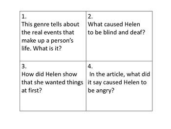 Helen Keller: Write the Room