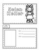 Helen Keller Biography Writing Tab Book