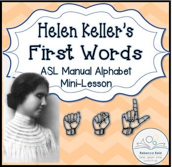 Helen Keller and American Sign Language Manual Alphabet
