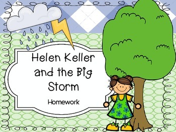 Helen Keller and the Big Storm Homework - Scott Foresman 2
