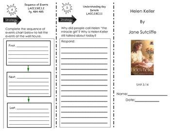 Helen Keller by Jane Sitcliffe- Journeys Common Core- Houghton Mifflin