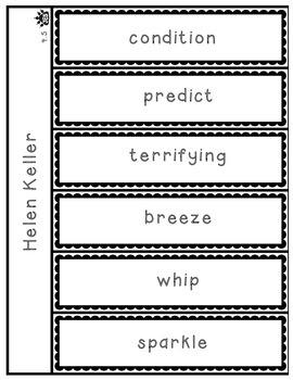 Helen Keller vocabulary flap book