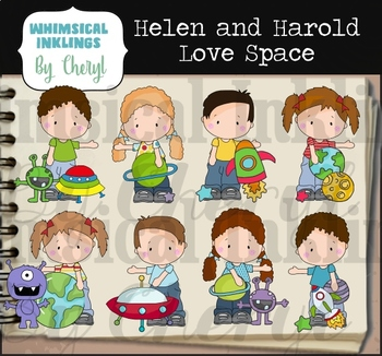 Helen and Harold Love Space Clipart Collection
