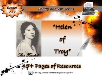 Helen by Sara Teasdale Poem Analysis