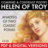 Helen of Troy, Compare & Contrast Two Poems, Point of View, Poetry Analysis CCSS
