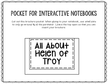 Helen of Troy - Greek Mythology Biography Research - Interactive Notebook