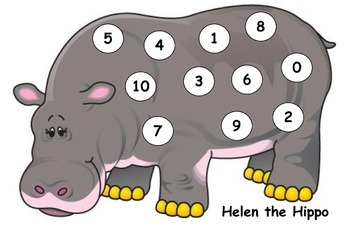 Helen the Hippo - Counting and Numeral ID 0-10