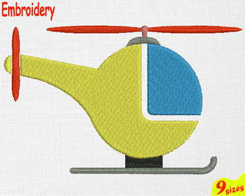 Helicopter Designs for Embroidery 4x4 5x7 hoop military Science toy toys 114b