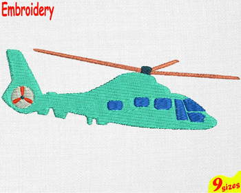 Helicopter Designs for Embroidery 4x4 5x7 hoop military Science world war 113b