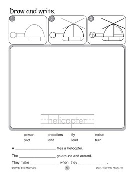 Helicopter (Draw...Then Write)