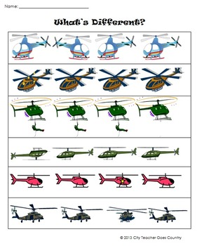 Letter H - Helicopter Thematic Unit