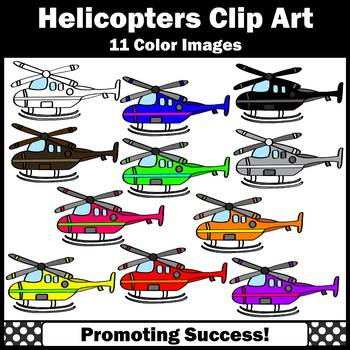 Helicopter Clipart for Transportation Unit Primary Colors SPS
