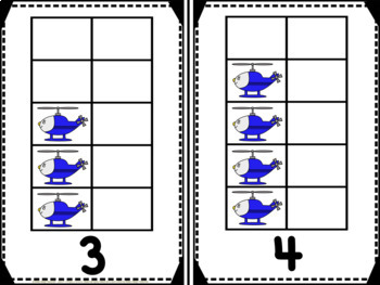 Helicopters Vertical Tens Frames Pack