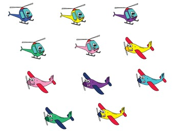 Helicopters and Airplanes
