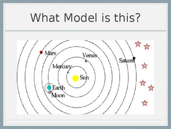 Heliocentric and Geocentric Models of the Solar System Game