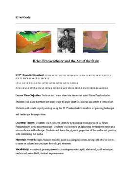 Hellen Frankenthaller and the Art of the Stain