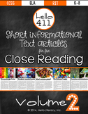 Short Text for Teaching Text Structure {Vol.2}: Informational Text about Color