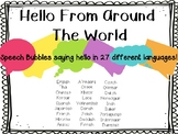 Hello Around the World Speech Bubbles