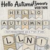 Hello Autumn Banner - Season Banner - Fall Banner -  Bulletin Board