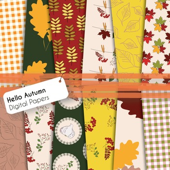 Autumn/Fall/Thanksgiving Digital Papers